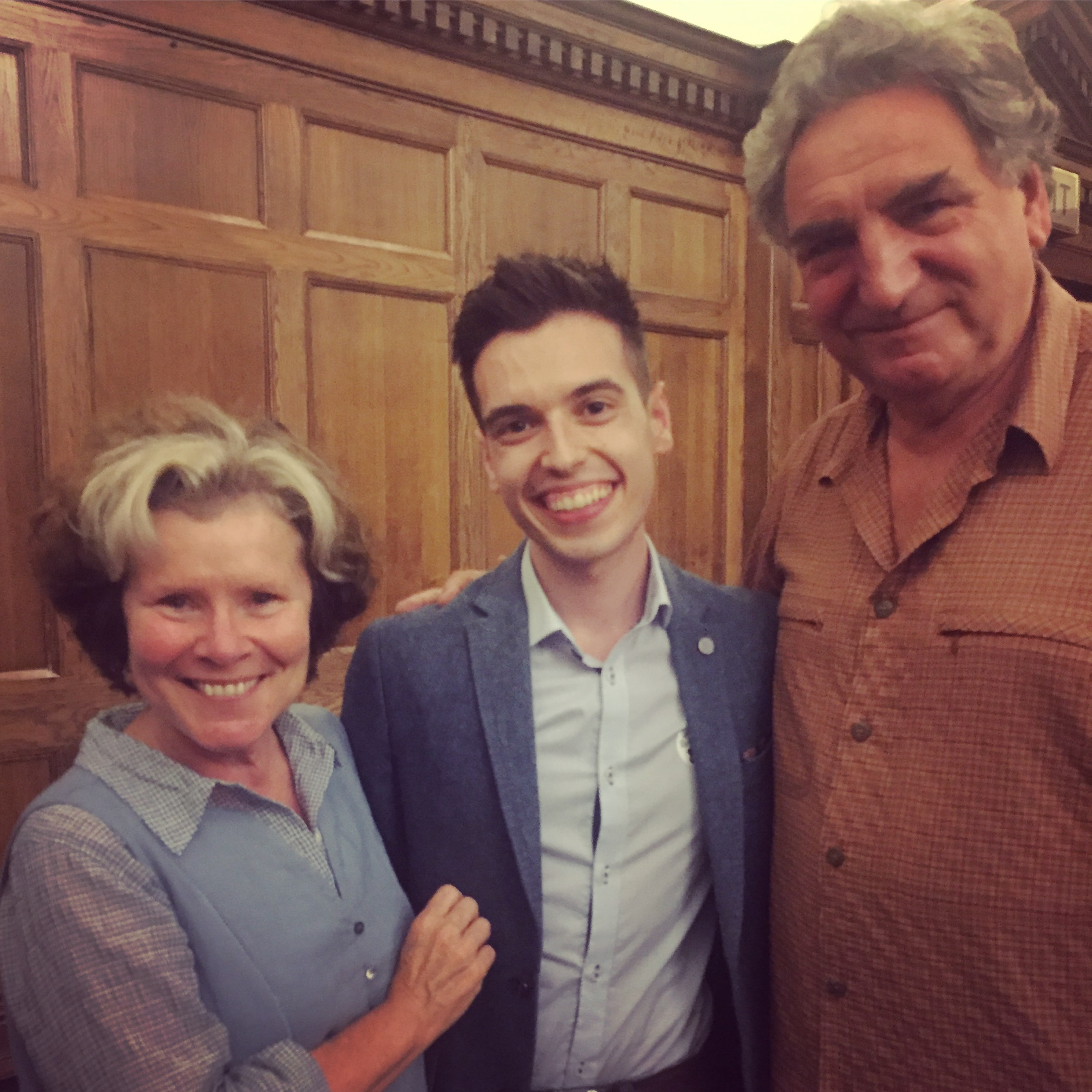 With Imelda Staunton & Jim Carter.