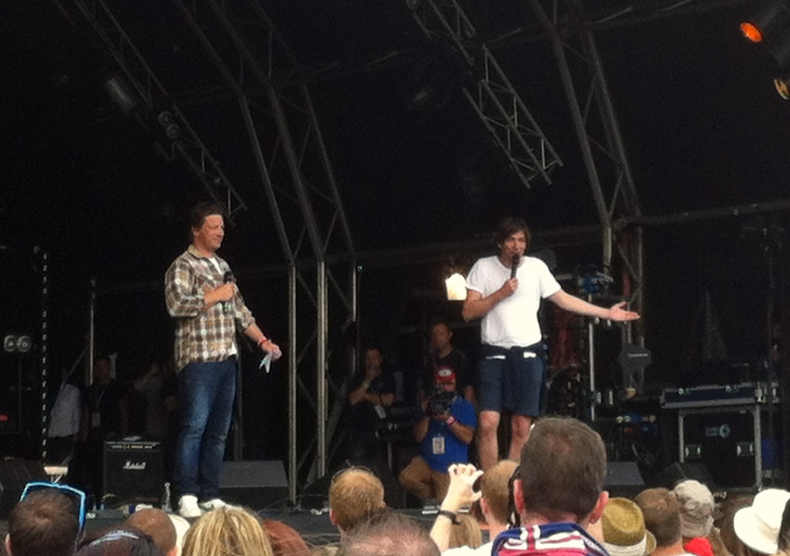 Jamie Oliver and Alex James declaring the day open!