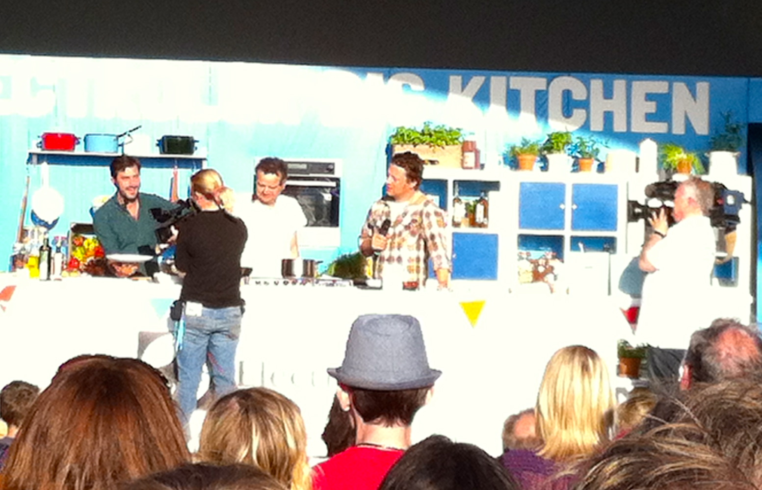 Cooking demonstration - the pros showing us how it should be done!