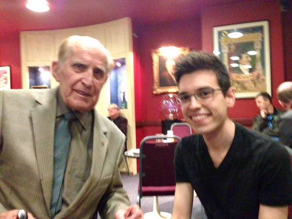 With Frank Brooker the first time we met at The Magic Circle.