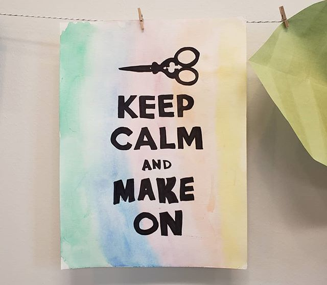 Keep calm and visit budalibrary.org for opportunities to get your make on in May 🖼🖌🖨🧵🧶 #budalibrary #makerspace #artatthelibrary #create #lifelonglearning #morethanbooks