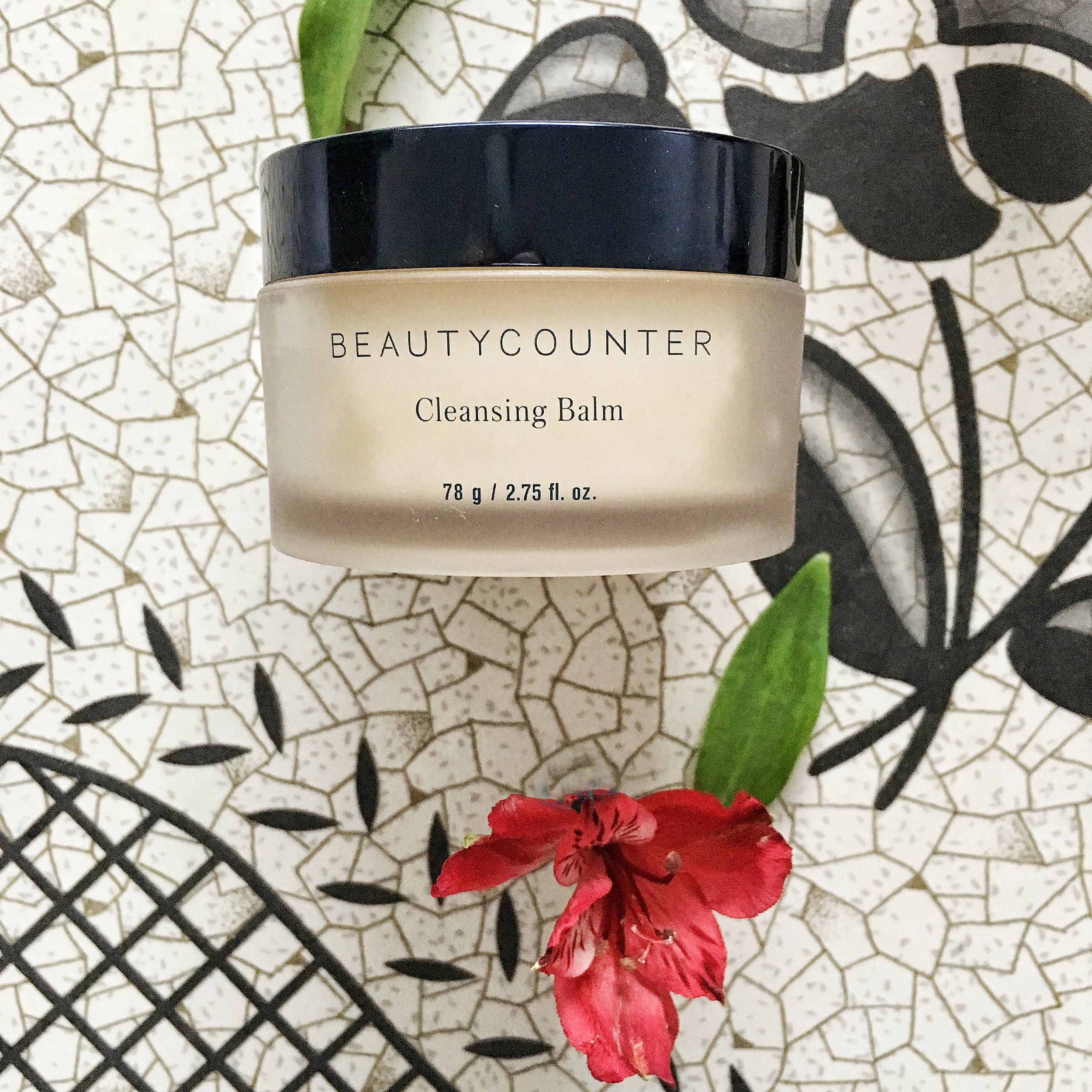 Cleansing Balm - I call Cleansing Balm Beautycounter's #1 multi-tasking product. Why? It's one product with over 10 uses! Cleansing Balm can be used as a face wash, makeup remover, overnight mask, or as a treatment for rosacea, acne, eczema, burns, stretch marks, dry knuckles/cuticles/heels, and as a preventative for wind burn. It's able to do all these things because it's formulated with vitamin C to brighten, cranberry and raspberry seed oils to hydrate, and mango seed butter for even more hydration. All you have to do is massage an almond-sized amount into dry skin. To remove (if you're using it as a face wash or makeup remover), dampen the included 100% muslin reusable cloth with warm water and gently wipe off balm in upward strokes.  ($94 CAD/$80 USD)