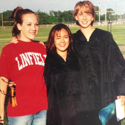Teressa, Kim and I at high school graduation.