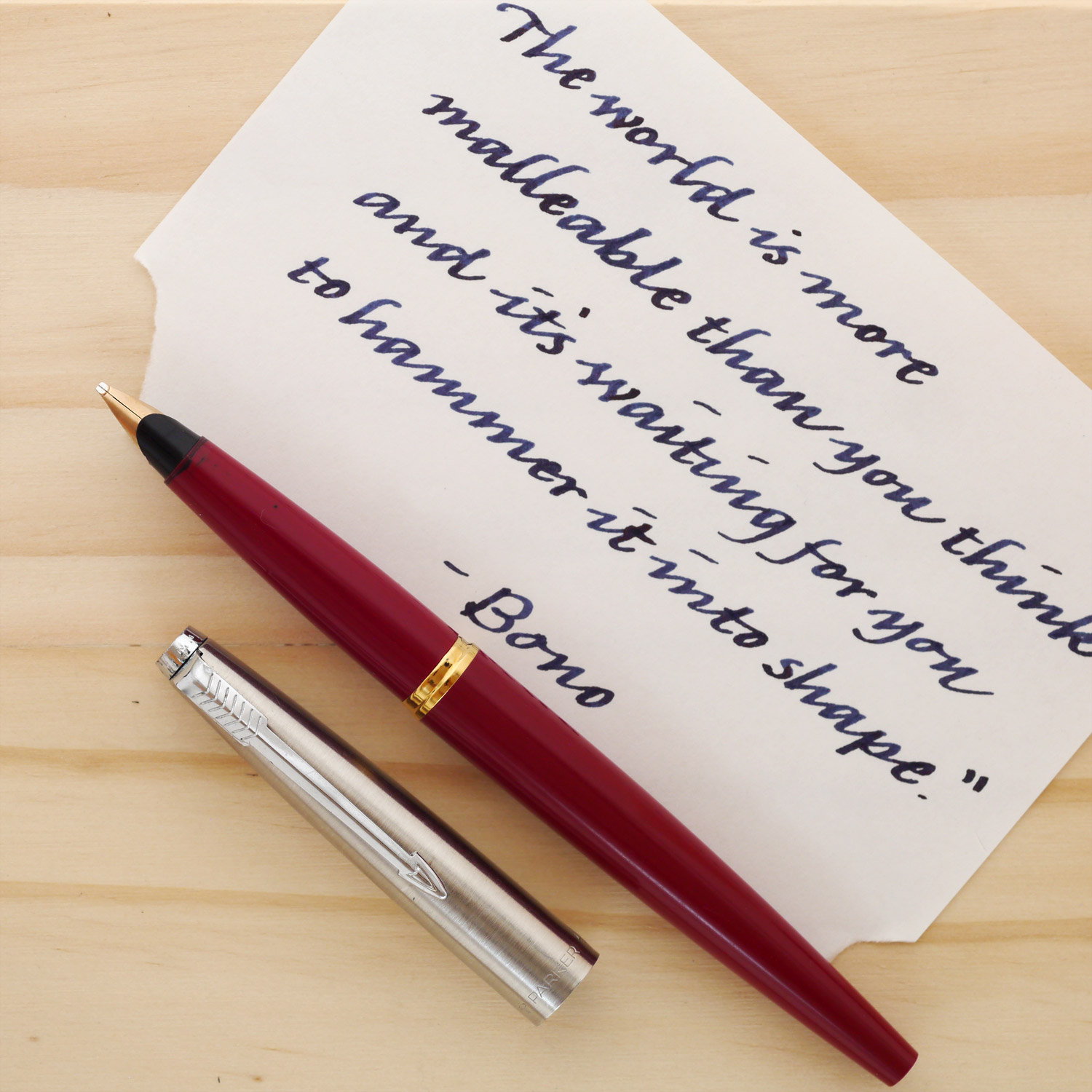Parker 45 with a factory italic nib.