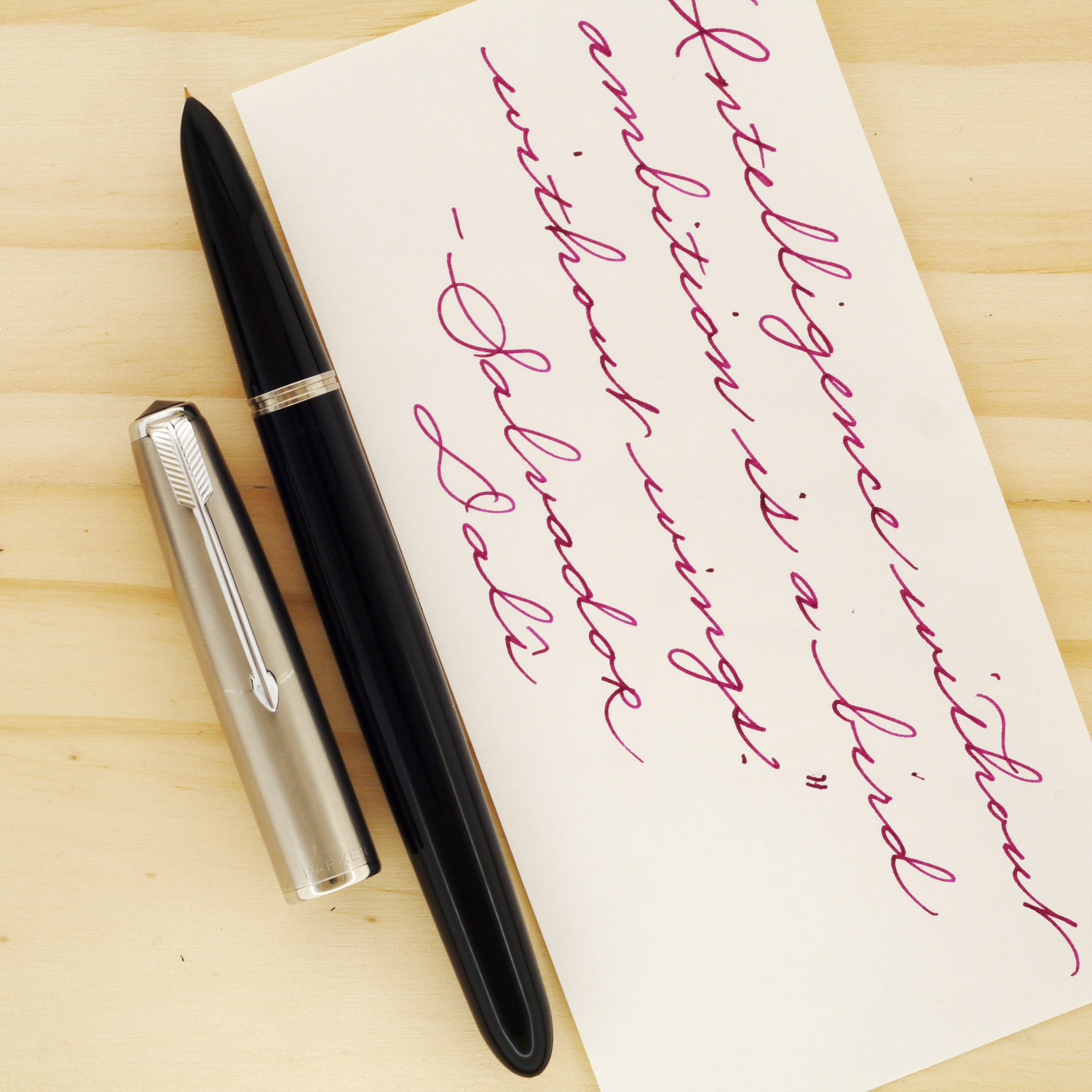 Parker 51 Aerometric in classic Black with a frosted cap