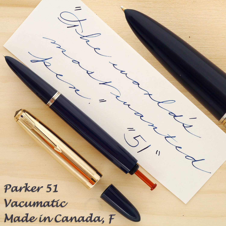 Parker 51 Vacumatic, Made in Canada, F