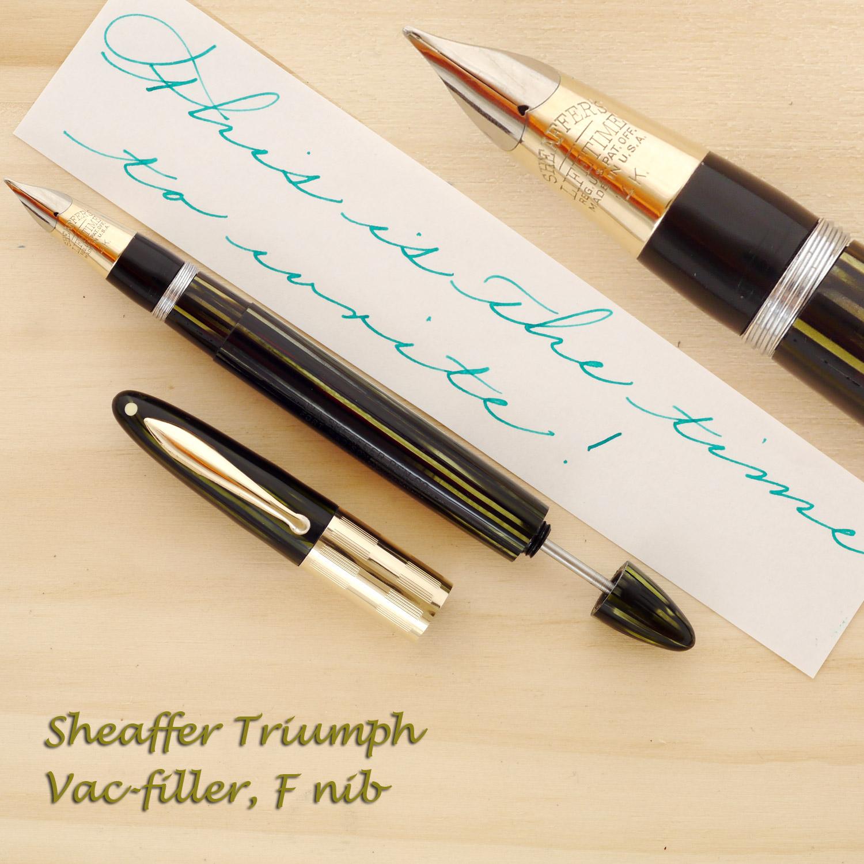 Sheaffer Triumph Vac-filler, F nib
