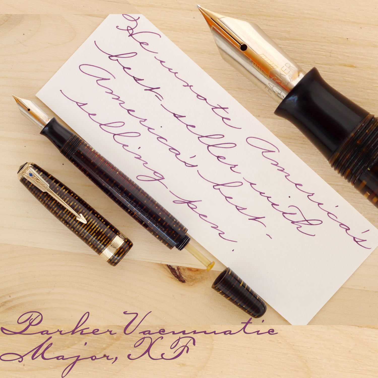 Parker Vacumatic Major Golden Pearl, XF, with the cap and the blind cap off