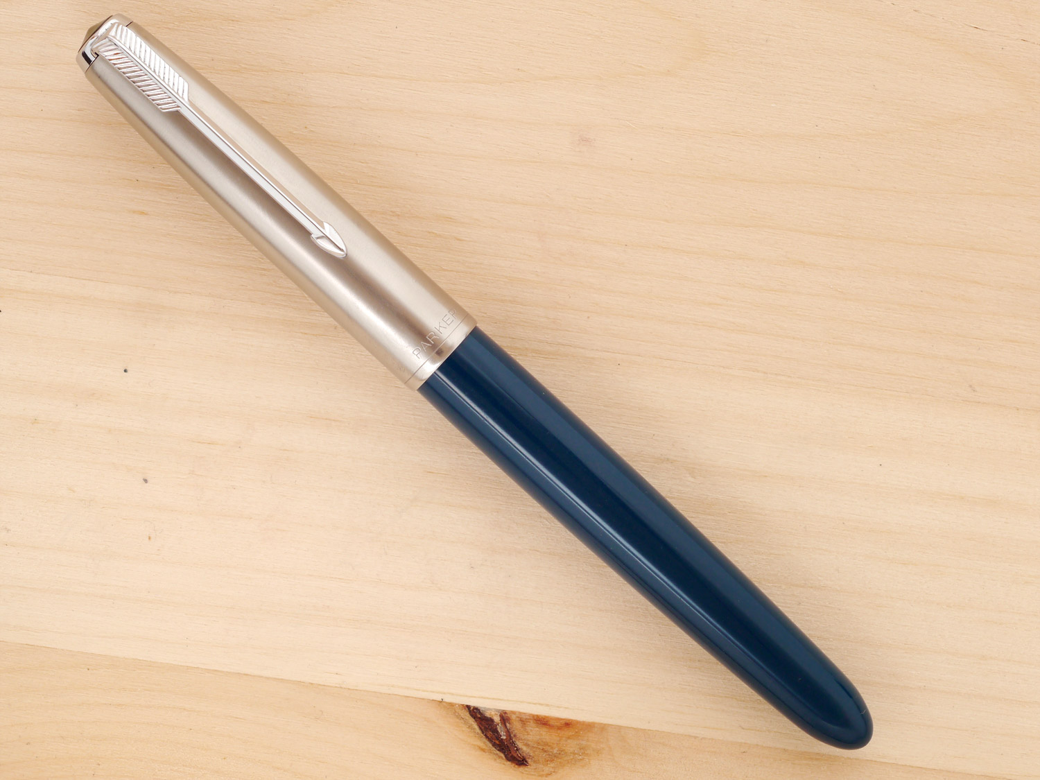 Parker 51 Aerometric Teal Blue, F, capped