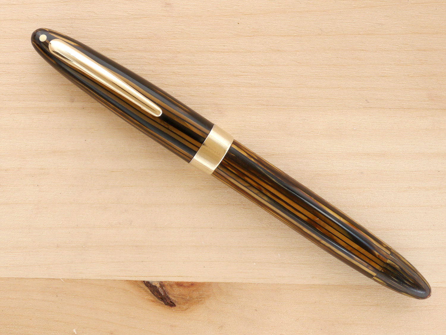 Sheaffer Triumph Statesman Vac, Golden Brown, F, capped