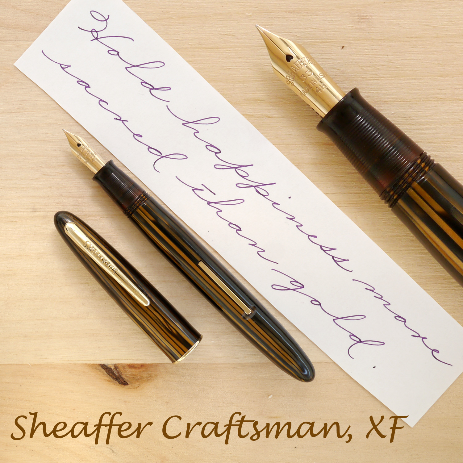 Sheaffer Craftsman, Golden Brown, XF, uncapped