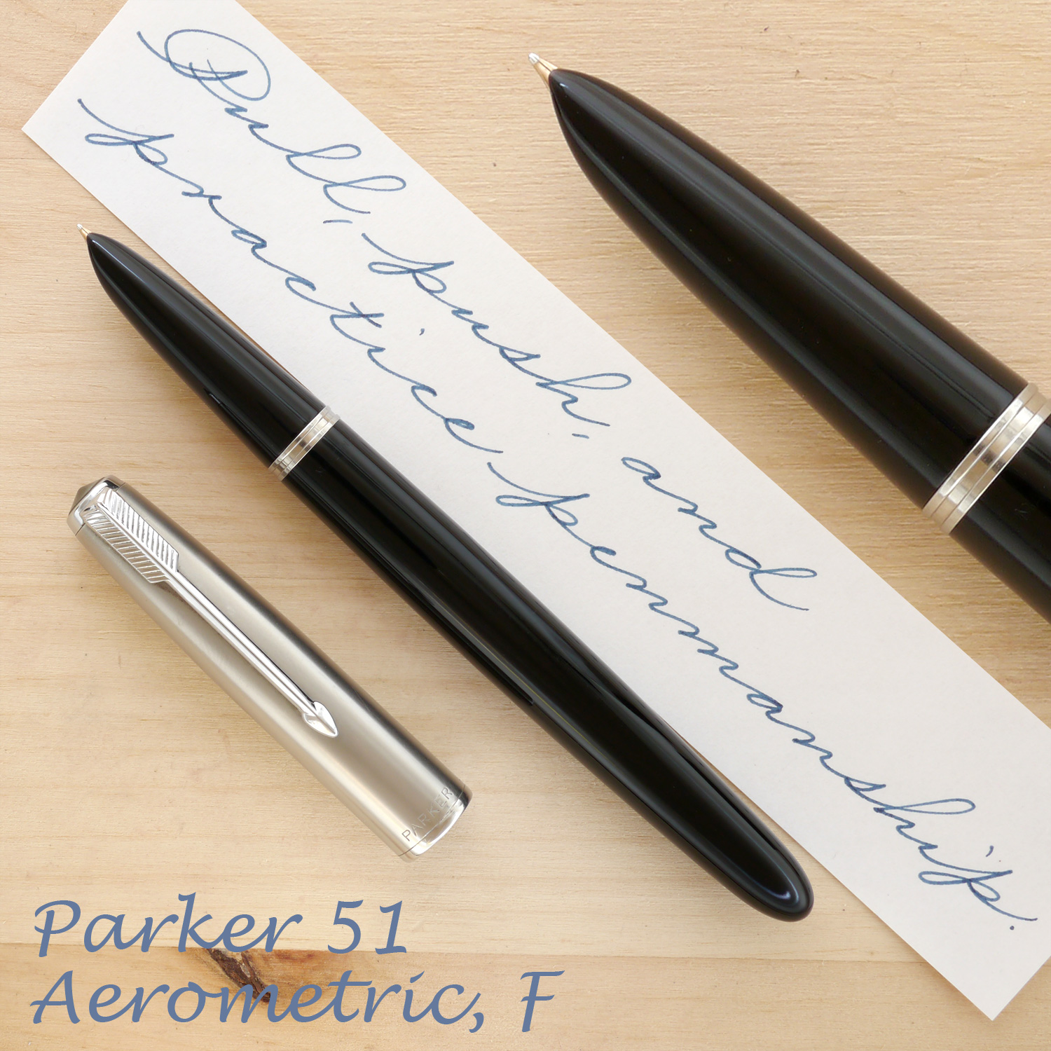 Parker 51 Aerometric, Black, F, uncapped