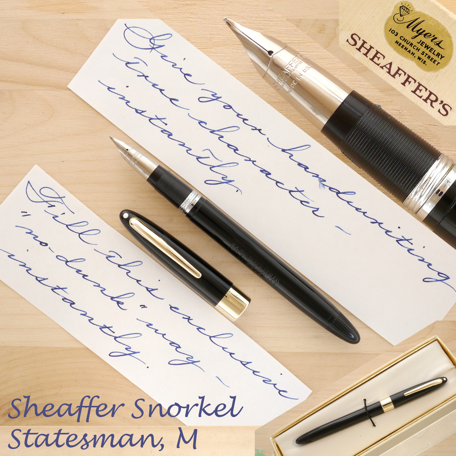 Sheaffer Snorkel Statesman, Black, M, Boxed