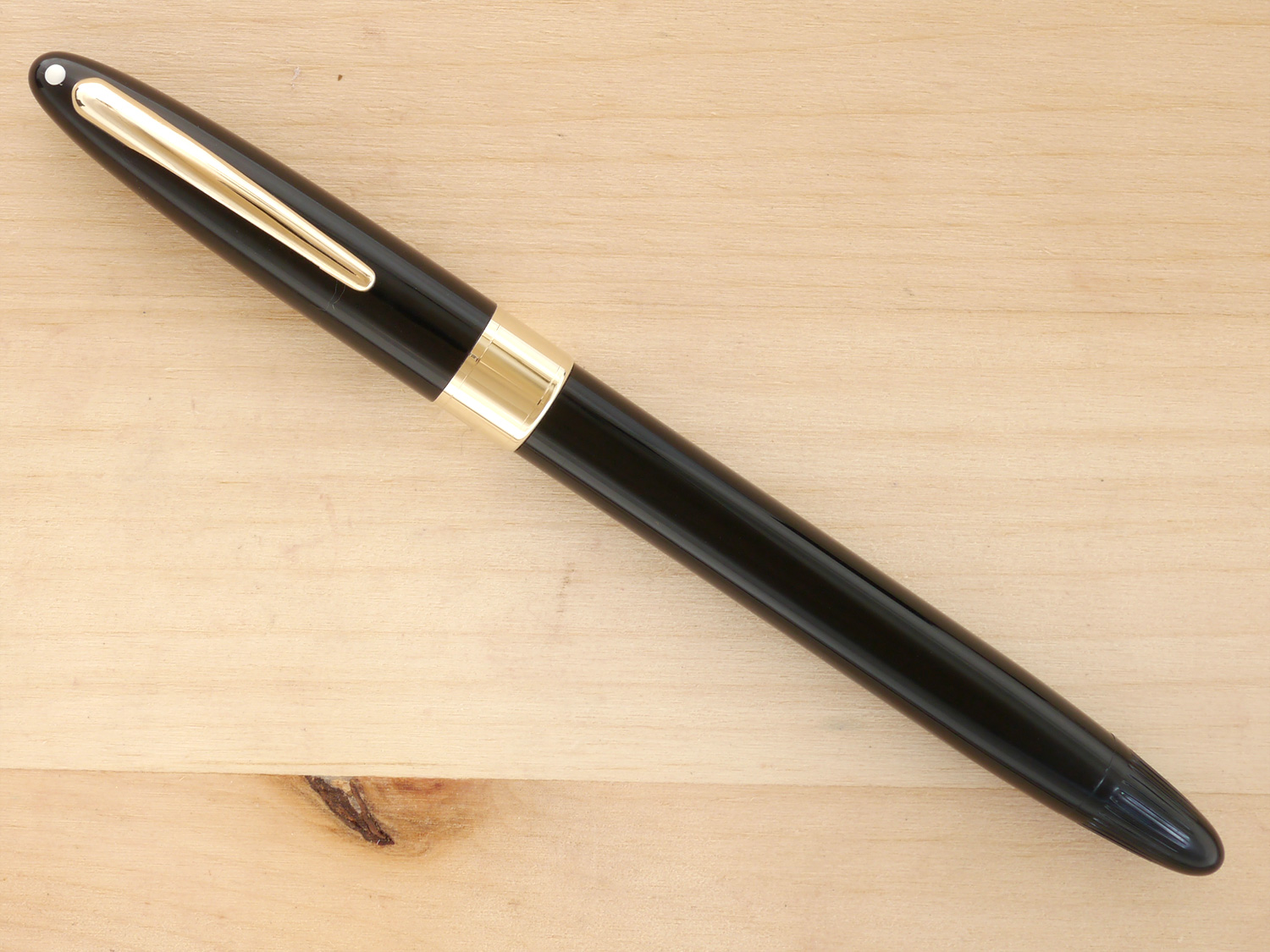 Sheaffer Snorkel Statesman, Black, M, Boxed, capped
