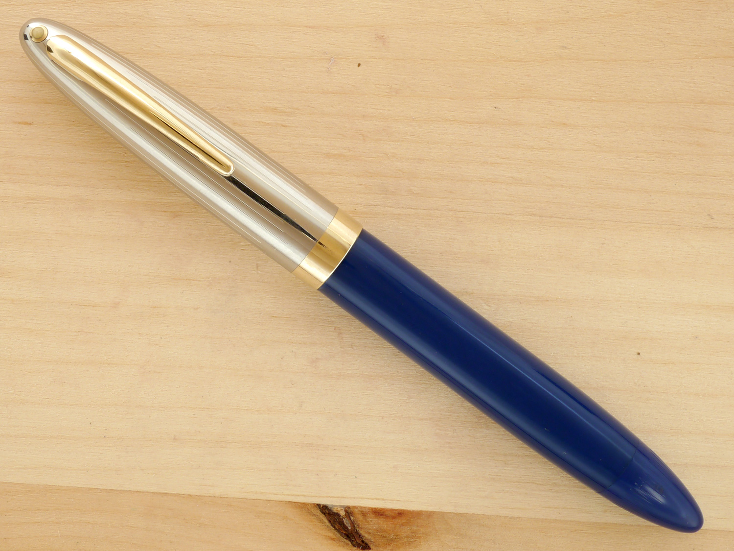 Sheaffer Triumph Vac Sentinel Deluxe Oversize, Blue, B, capped