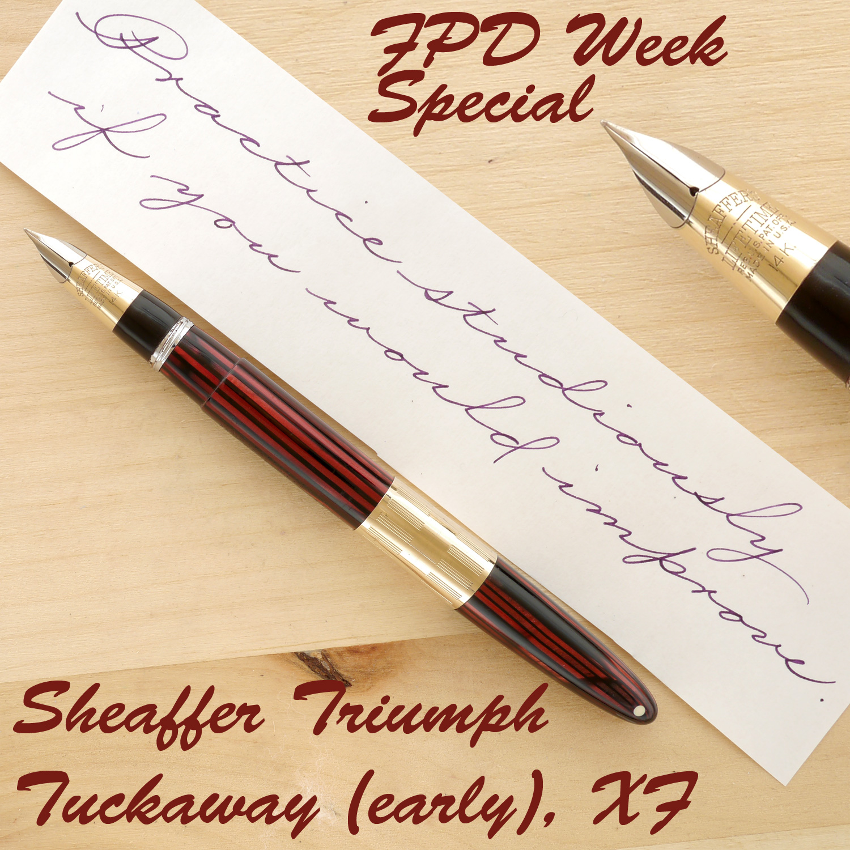 Sheaffer Triumph Tuckaway (early), Carmine, XF, posted