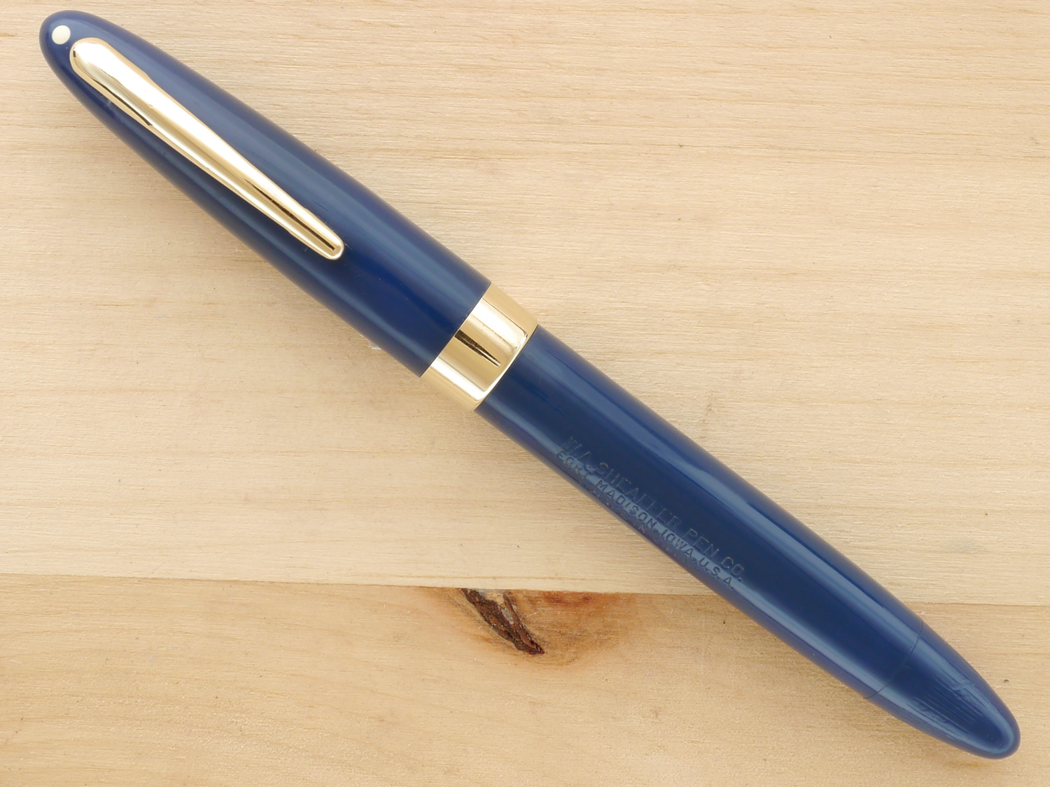 Sheaffer Triumph Statesman Vac, Persian Blue, F, capped