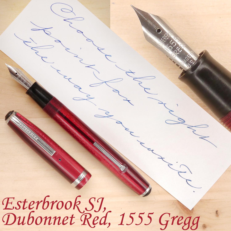 Esterbrook SJ, Dubonnet Red, 1555 Gregg