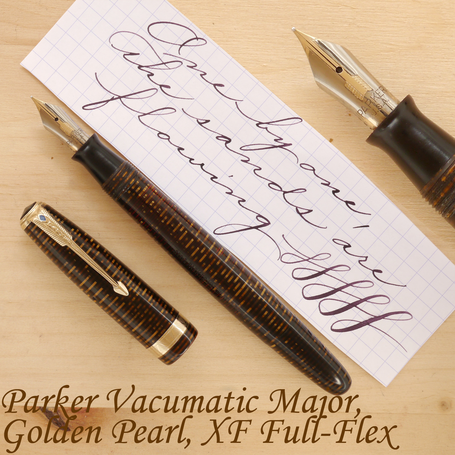 Parker Vacumatic Major, Golden Pearl, XF Full-Flex, uncapped
