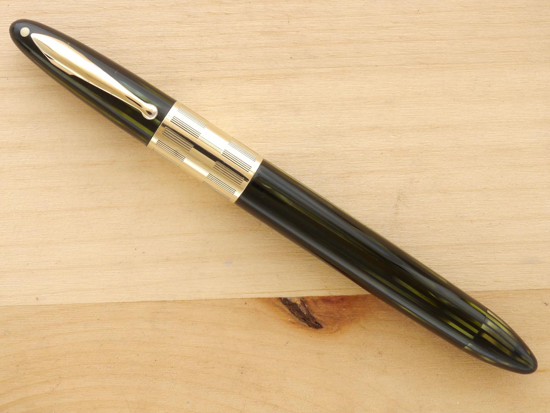 Sheaffer Triumph Vac Fountain Pen, Marine Green, XF, capped