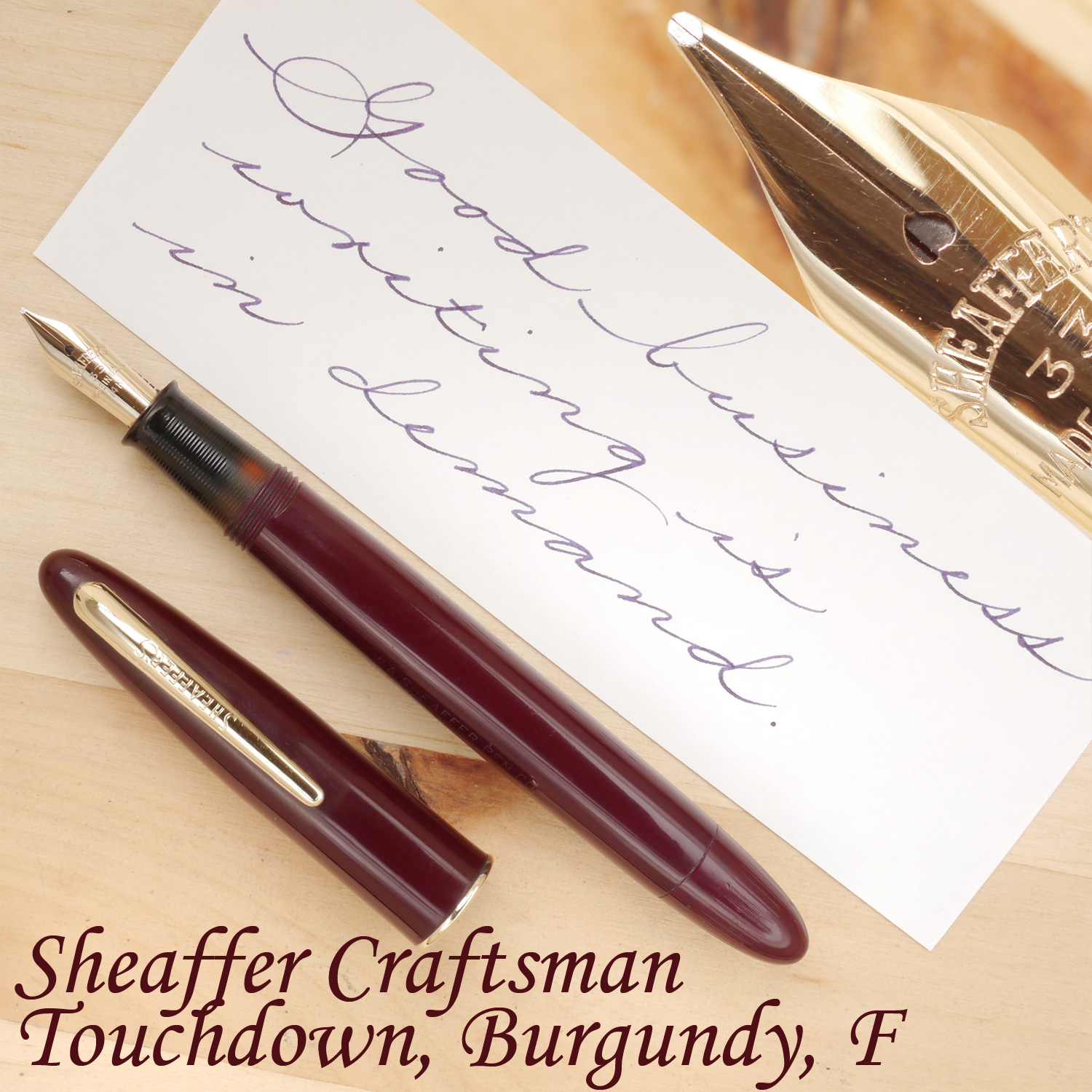 Sheaffer Craftsman Touchdown, Burgundy, F, uncapped.