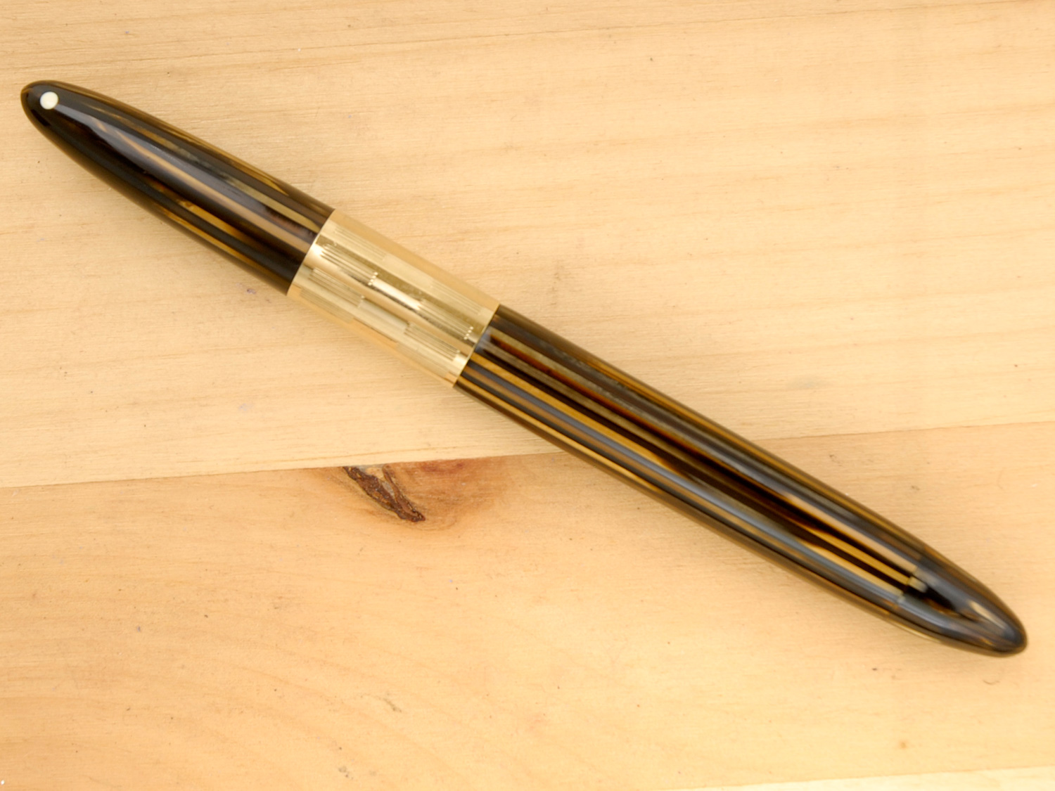 Sheaffer Triumph Vac Clipless, Golden Brown, XF, capped
