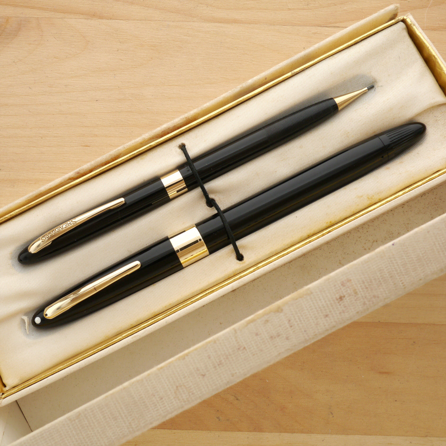 Sheaffer Snorkel Admiral Fountain Pen and Pencil Set, XXF, in box