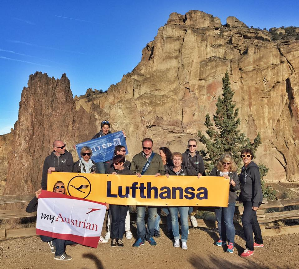 Group adventure at Smith Rock State Park