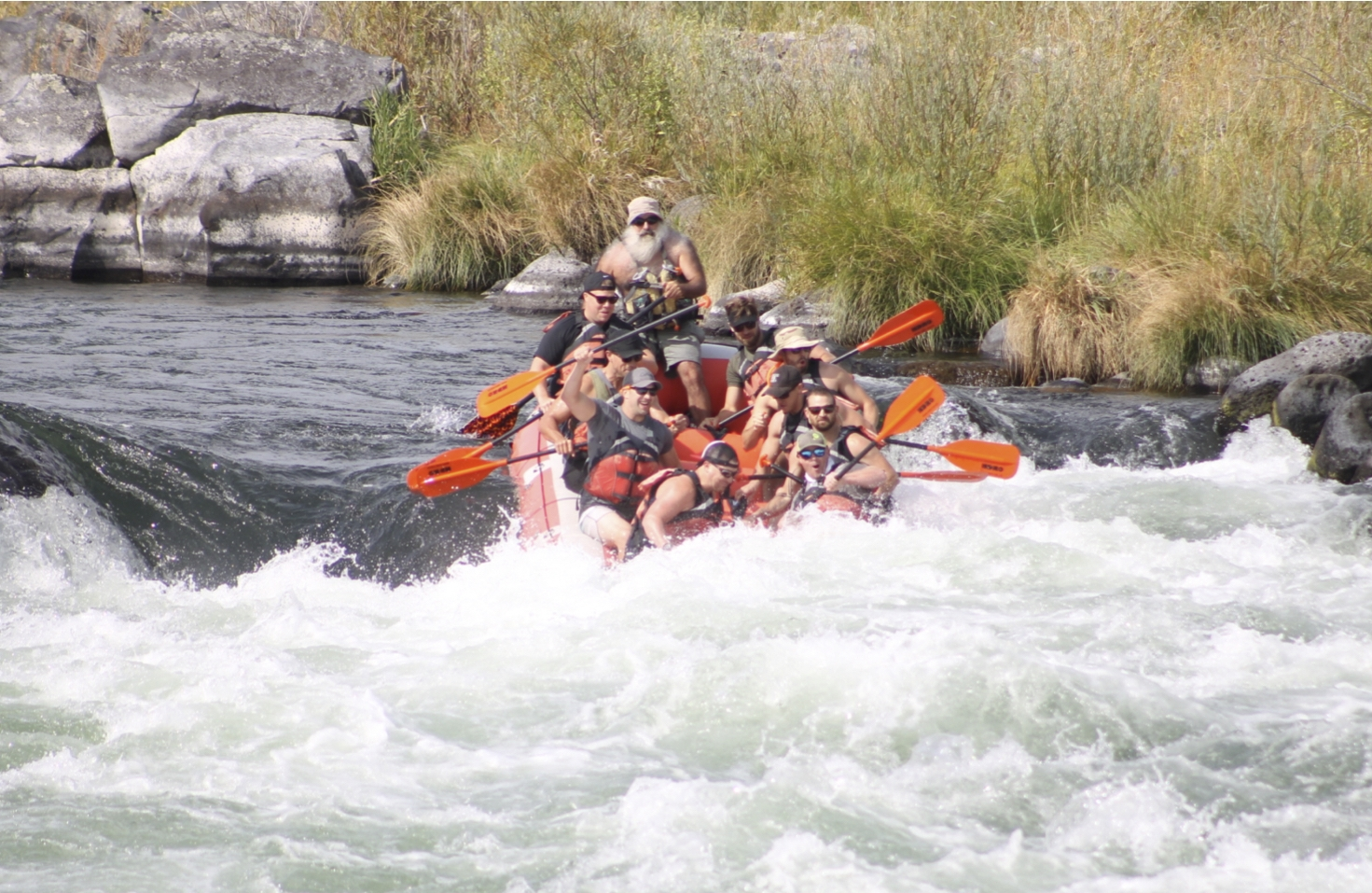 Group Rafting on the Deschutes River