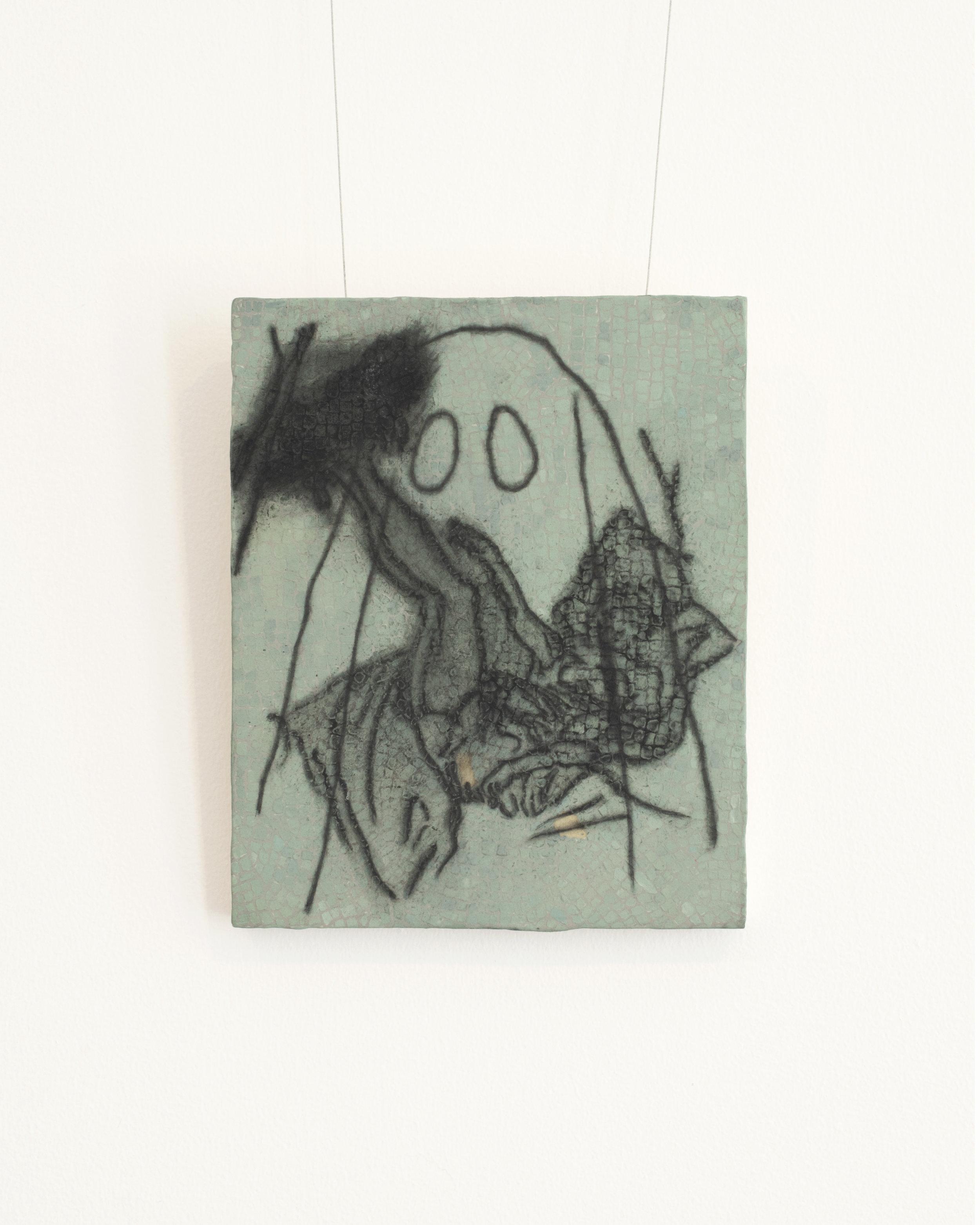 I love you like Osiris iii : detail | graphite, gouache | 10INx12IN
