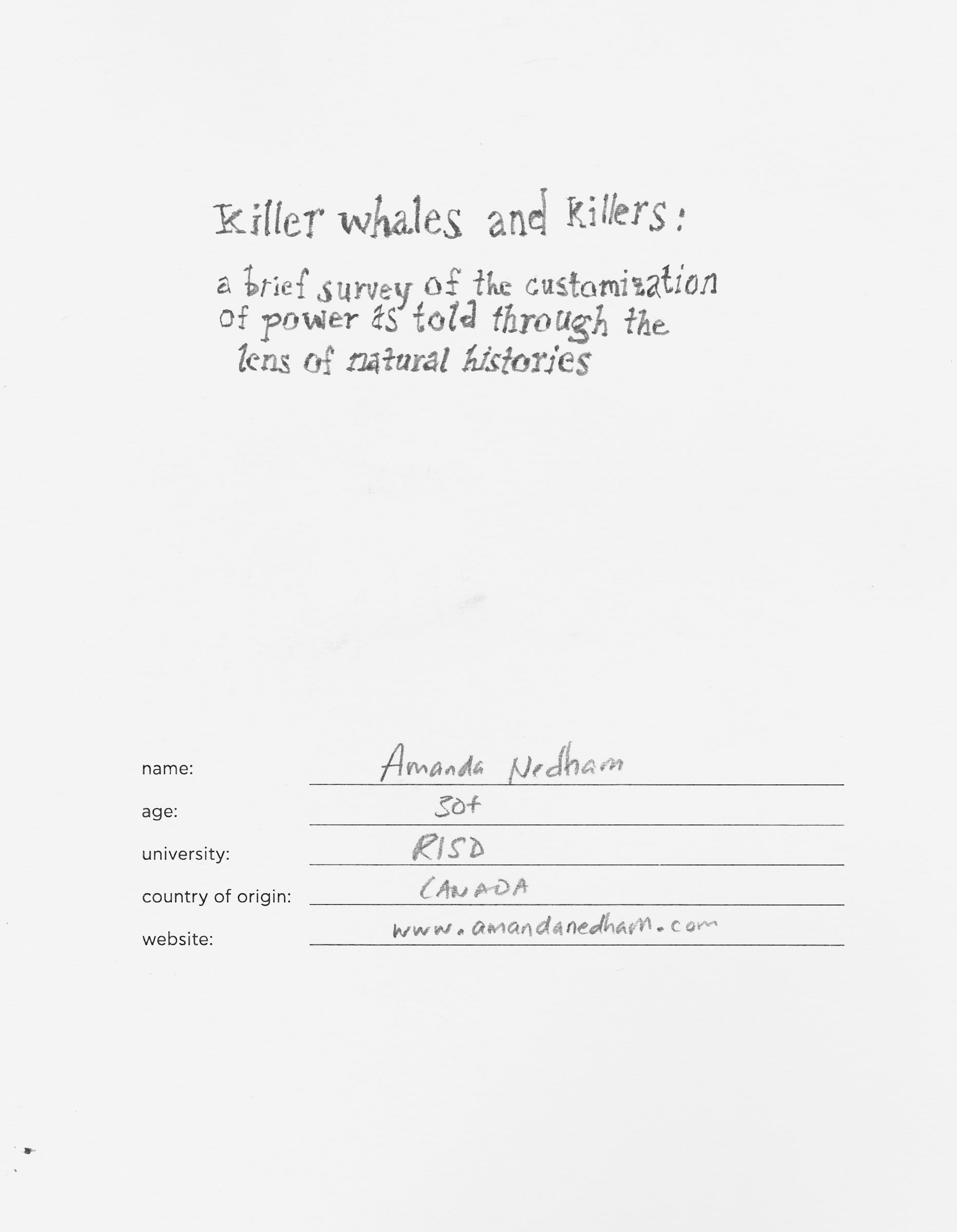 Killers & Killer Whales