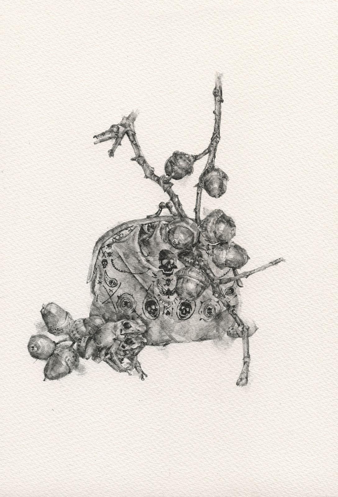 Like Milk & Blood viii  | graphite on paper | 8INx10.5IN