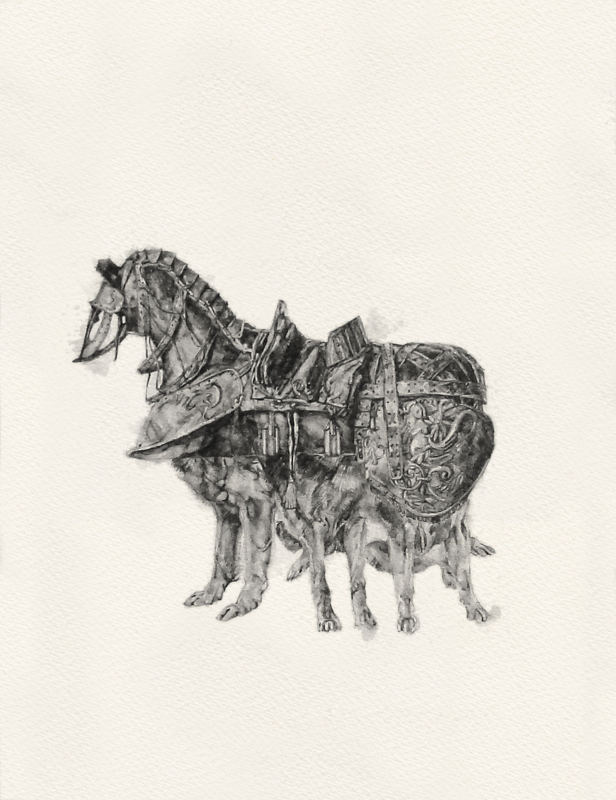 Like Milk & Blood ix  | graphite on paper | 8INx10IN