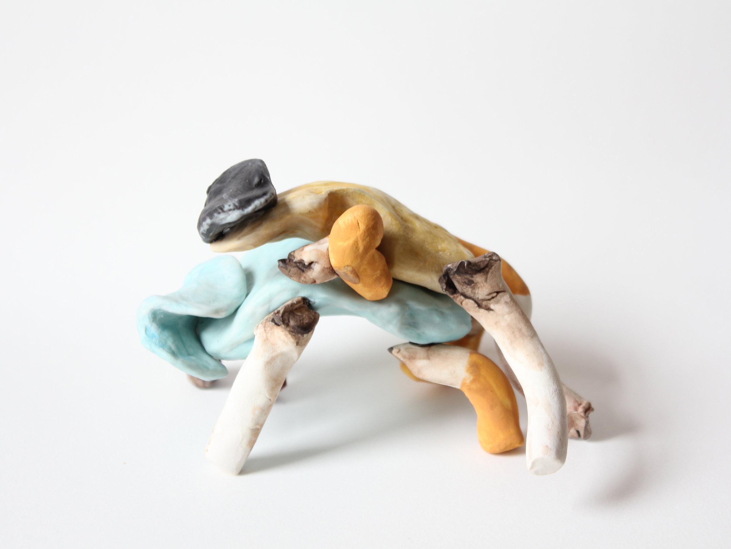 RHRW199396, or, Rhinos  | clay, acrylic, gouache | 4INx4INx3IN