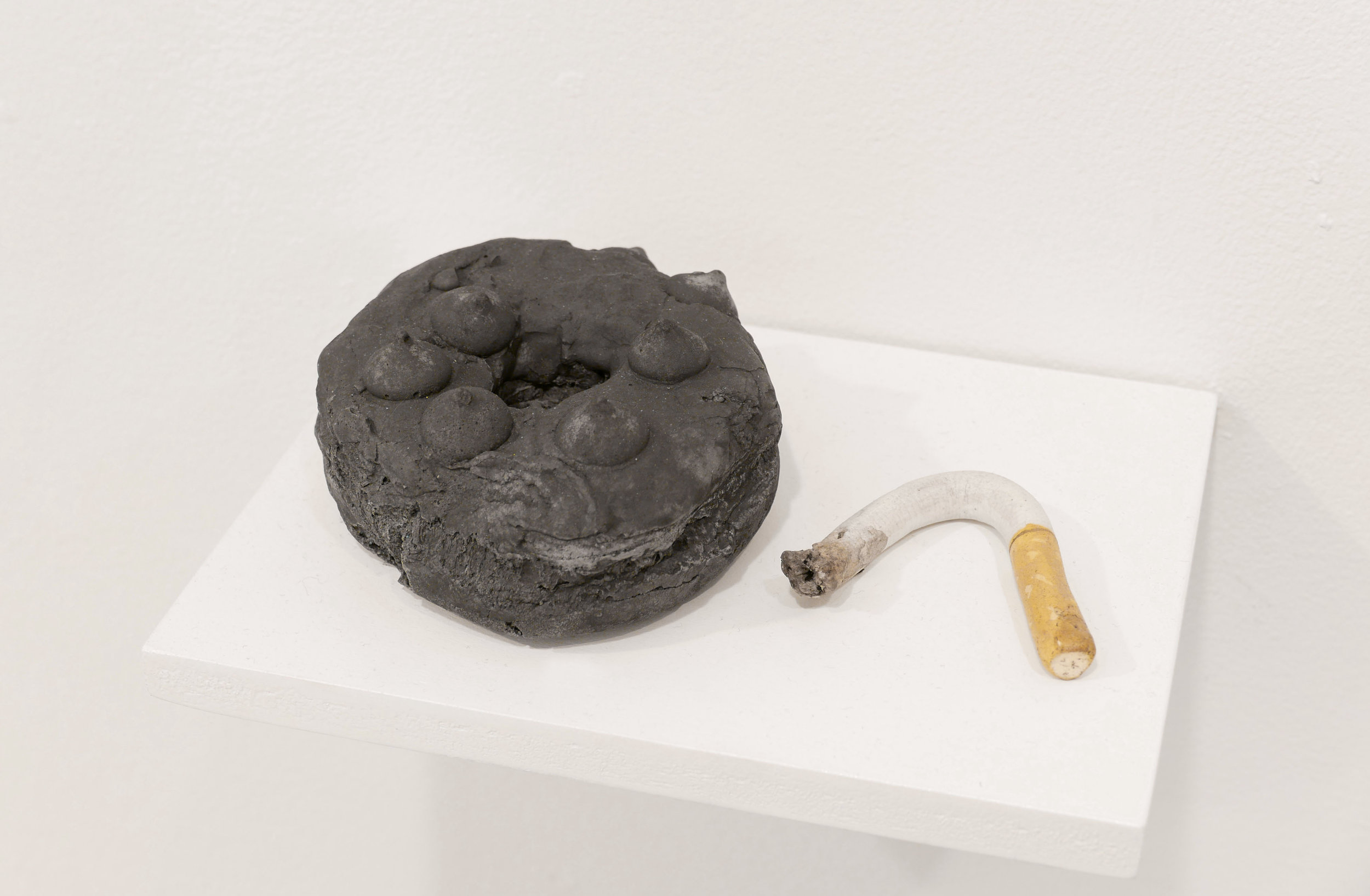 detail:  Comet donut burnt offering  | installation: Field Projects Gallery
