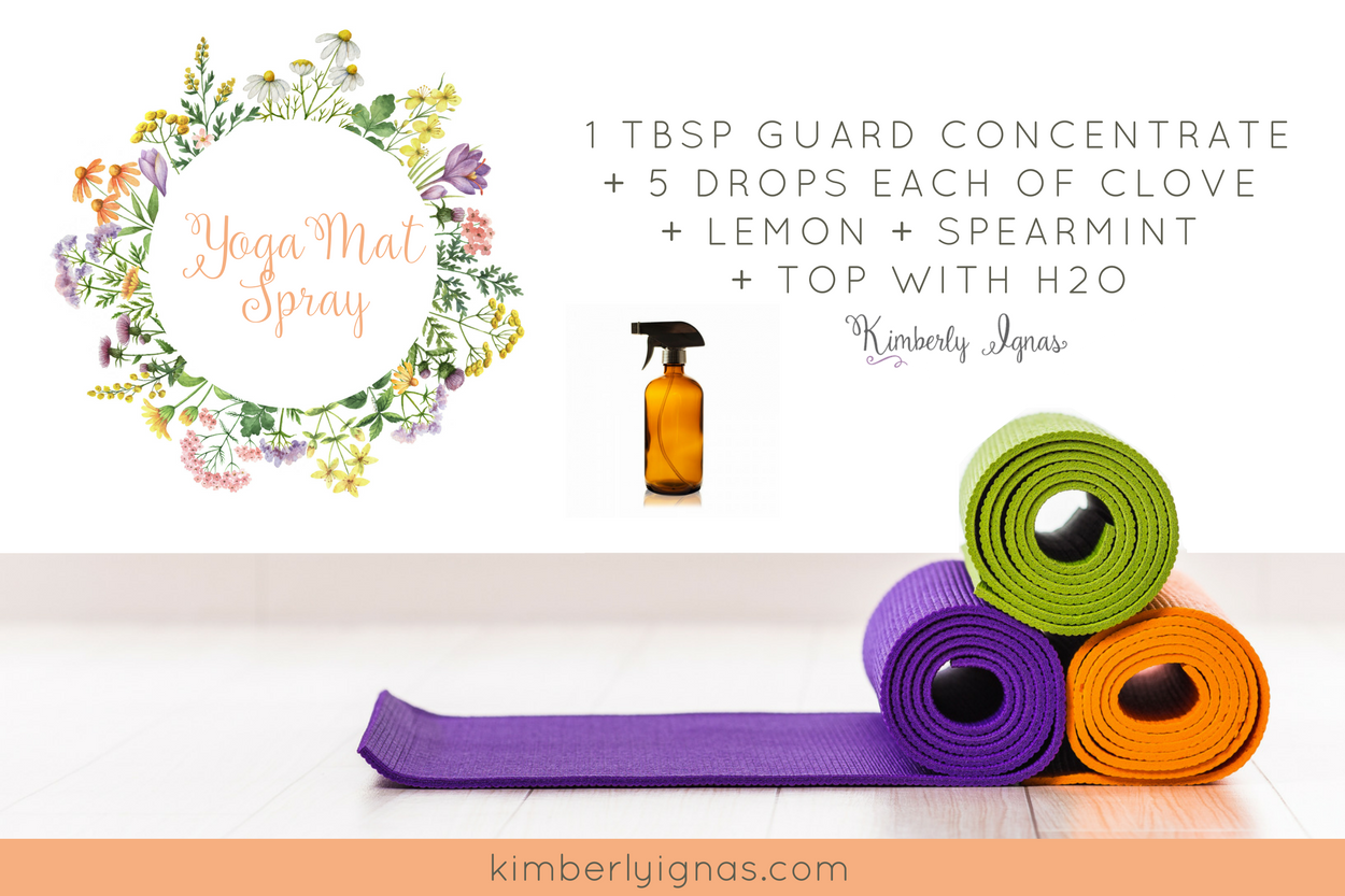 You can make yoga mat spray or workout equipment spray for pennies. You can add any oils you love so play around. Always add a soap like the cleaner or a carrier oil so the spray nozzle doesn't plug up. What is your favorite oils to use for yoga mat spray?