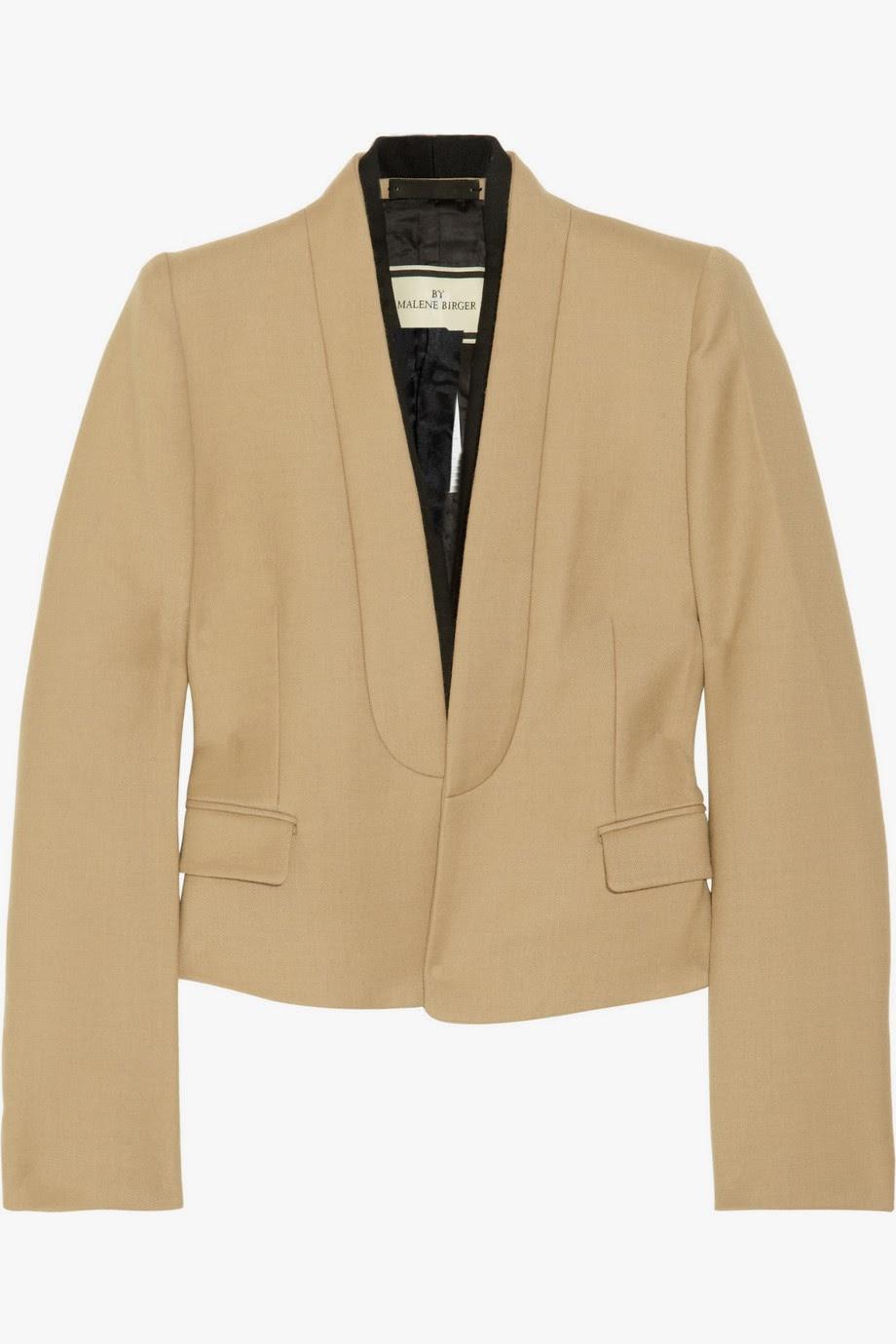 Gacio cropped crepe jacket  $745