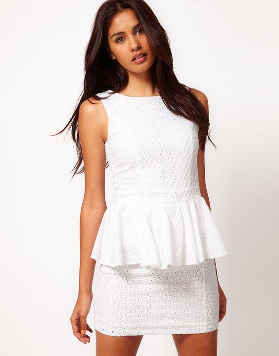 Rare White Peplum Chevon Dress.jpg
