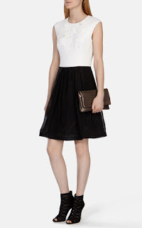 Karen Millen Full Skirted Dress with Floral Applique.jpg