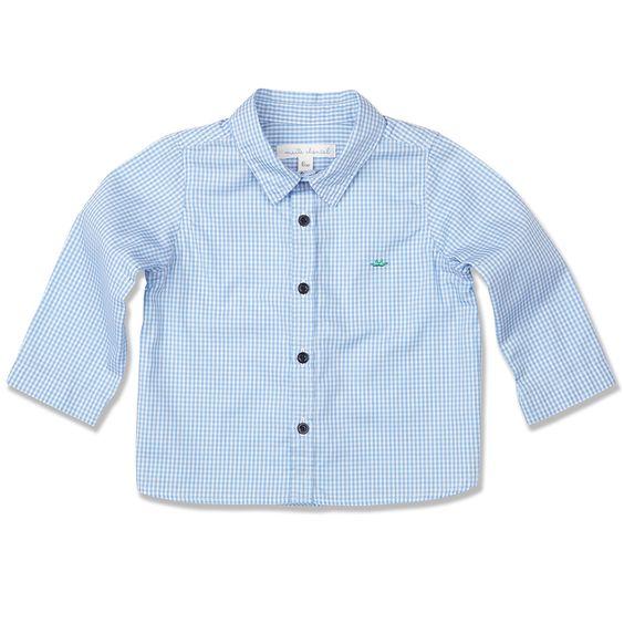 Marie Chantal Pale Blue Checkered Shirt.jpg