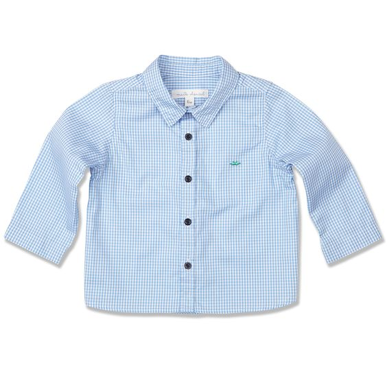 Marie Chantal Pale Blue Checkered Shirt.jpg