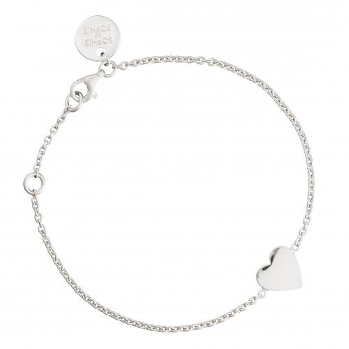 Sophie by Sophie Engraved Heart Bracelet