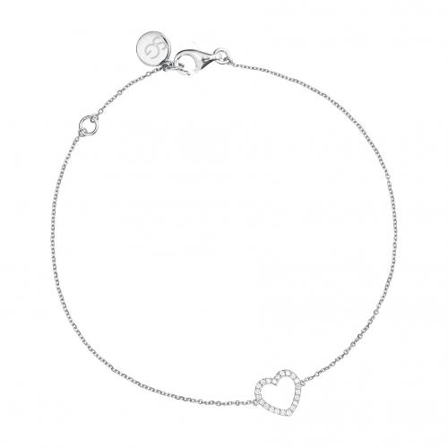 Sophie by Sophie Diamond Heart Bracelet