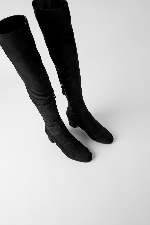 Zara High Block Heeled Over-the-Knee