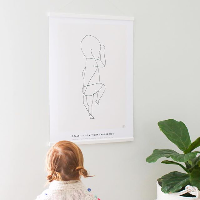 Time is flying by fast and we already have an almost 6 year old. 😳  I absolutely adore our @thebirthposter illustration in 1:1 scale, which reminds us of how small Vivienne was when we first met. I love how it's personalized with her name, weight, length, and time—wow, she was so tiny! 💓  If you'd like your very own personalized birth poster I'm sharing a special discount code! Head to thebirthposter.com and enter ohsolovely15 for 15% off on all orders (excluding gift cards). It is valid until April 14th.