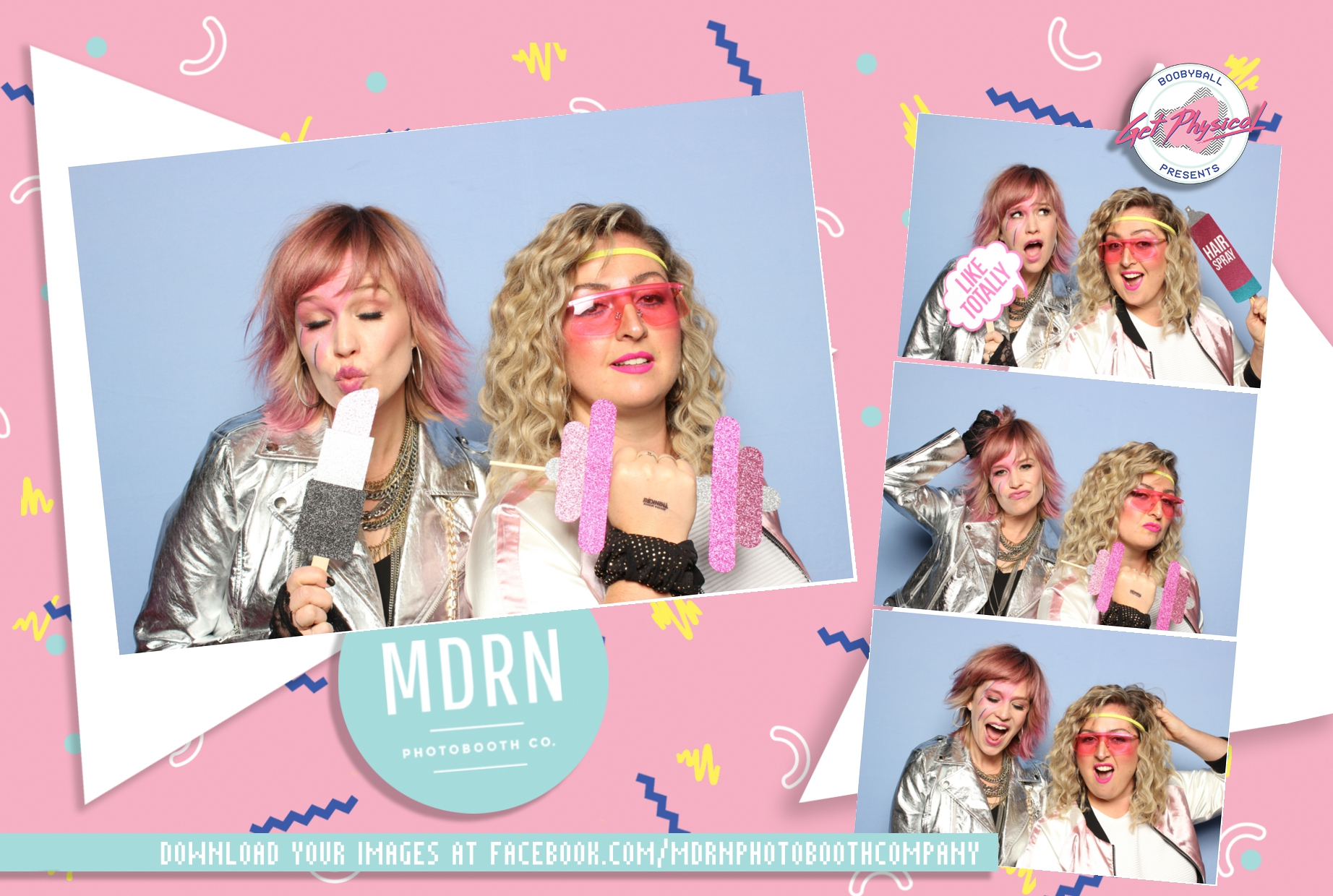 Boobyball mdrn photobooth company sponsorship template