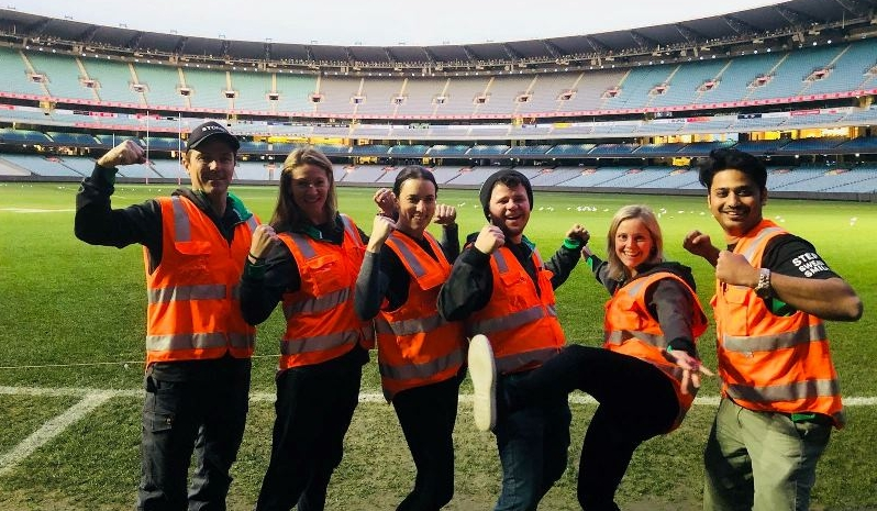 The Stadium Stomp crew