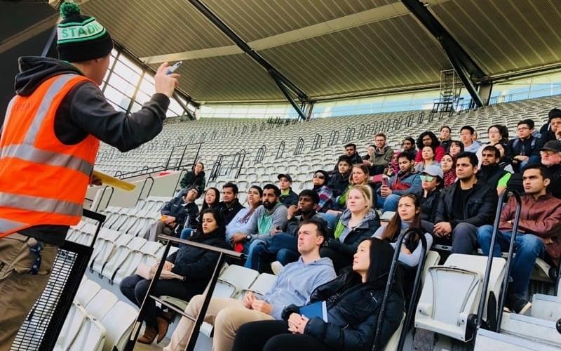 Volunteer briefing Stadium Stomp MCG
