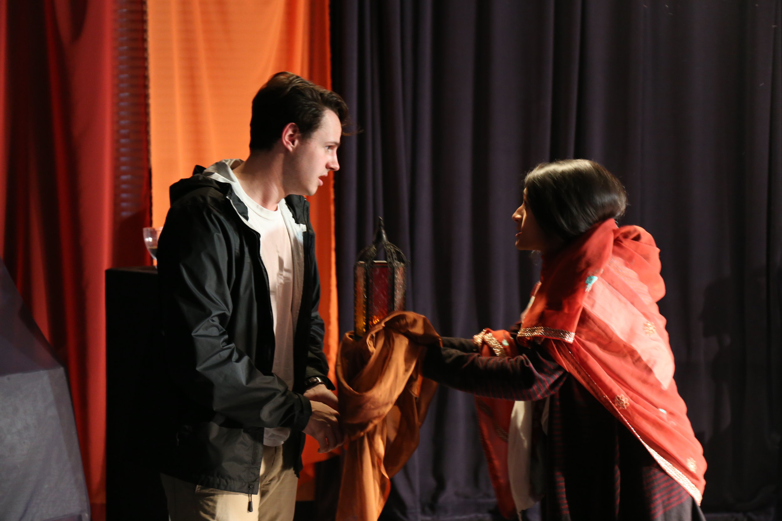 Brooks Laney and Shanaya Kapai in UT Austin's production, 2016. Photo credit: Yitai Chung