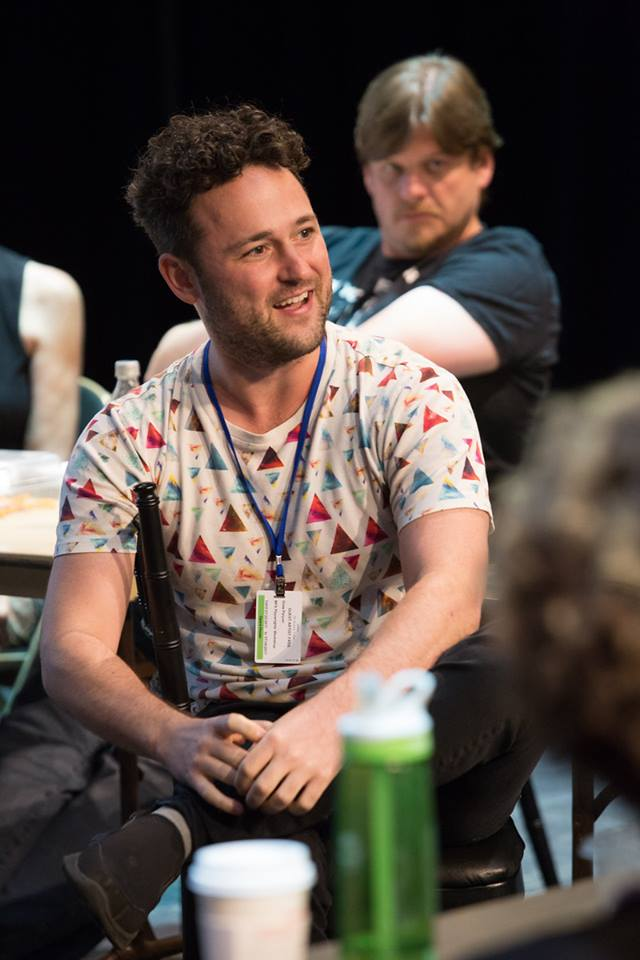 Drew at the MFA Playwrights' Workshop, Kennedy Center for the Performing Arts, Washington, DC, 2017.